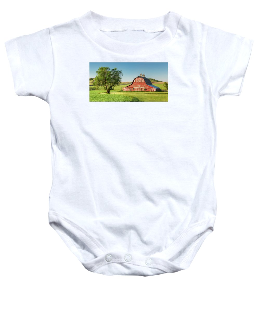 Red Baby Onesie featuring the photograph Beautiful Rural Morning by Todd Klassy