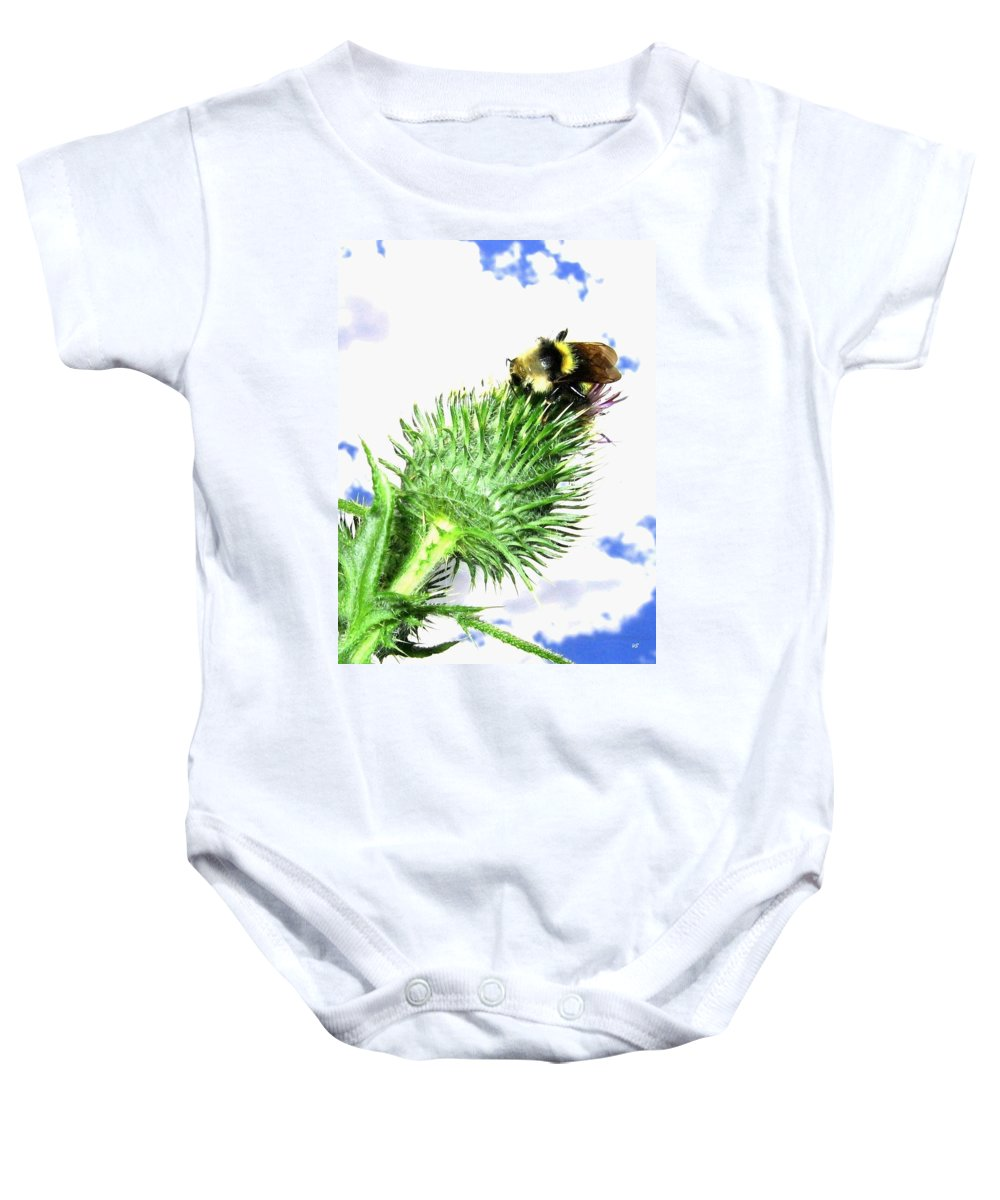 Bee Baby Onesie featuring the photograph Bee-line 4 by Will Borden