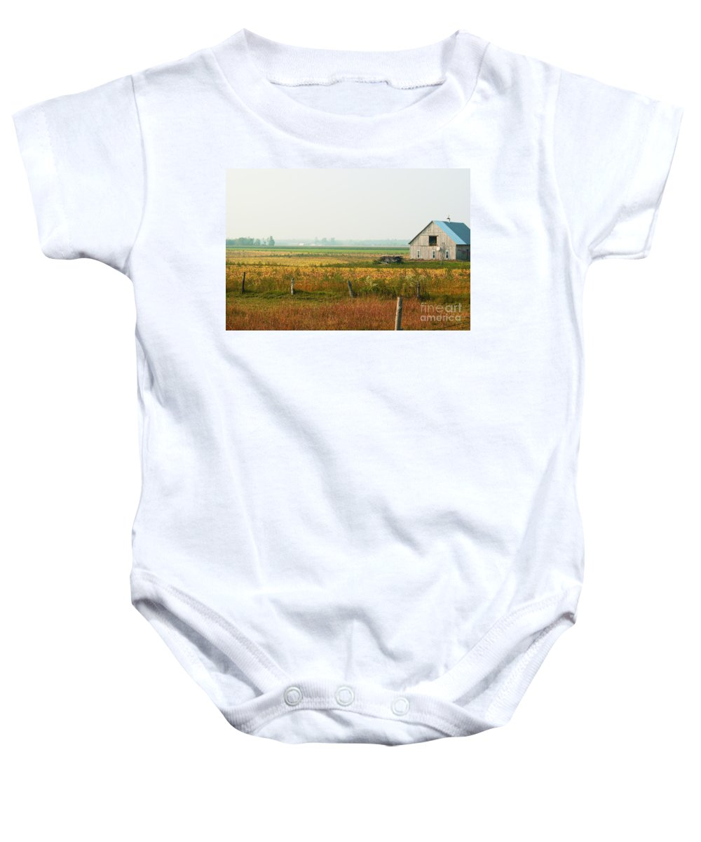 Countryside Baby Onesie featuring the photograph Before The Sweat by Aimelle