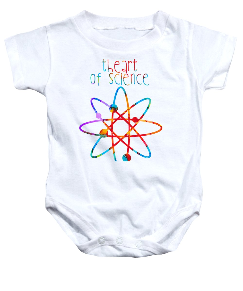 Abstract Baby Onesie featuring the painting Beginnings Abstract by Nikki Marie Smith