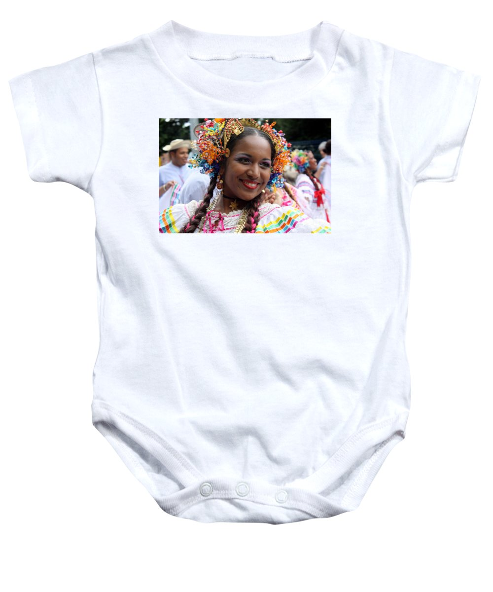Belle Baby Onesie featuring the photograph Belle by Jo Hoden