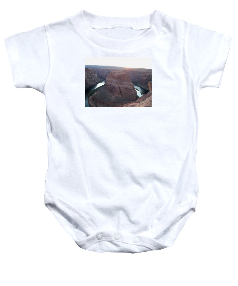 Colorado River Baby Onesie featuring the photograph Bend At The River by Michael Bergman