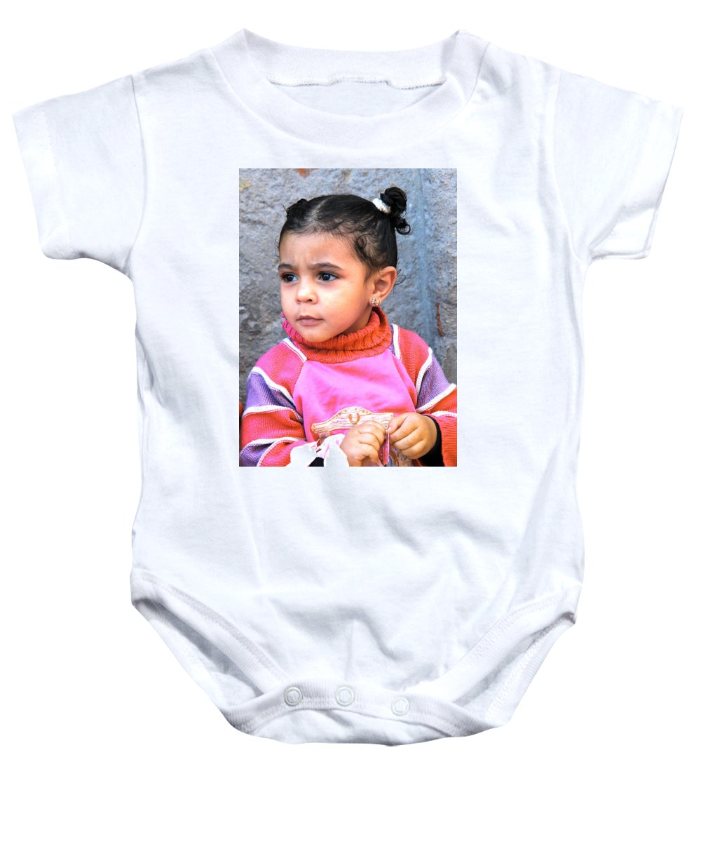 Dahar Baby Onesie featuring the photograph Beyond What They Want You To See by Jez C Self