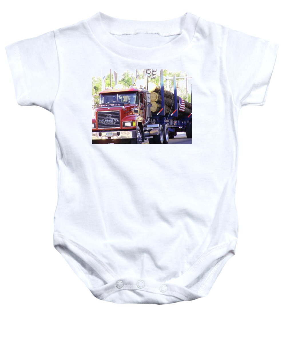 Big Mac Baby Onesie featuring the photograph Big Mack by Marilyn Holkham