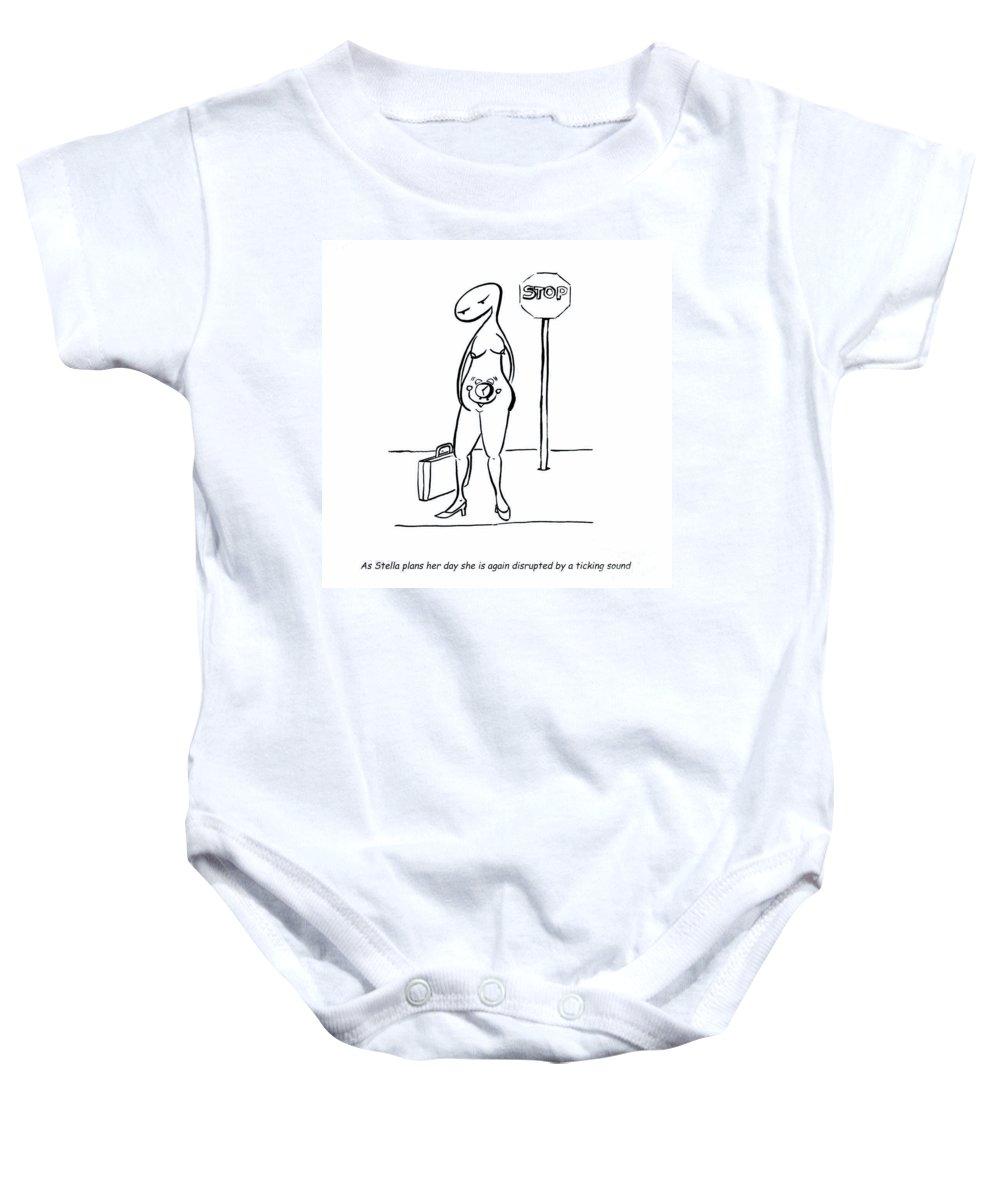Stella Baby Onesie featuring the digital art Biological Clock by Leanne Wilkes