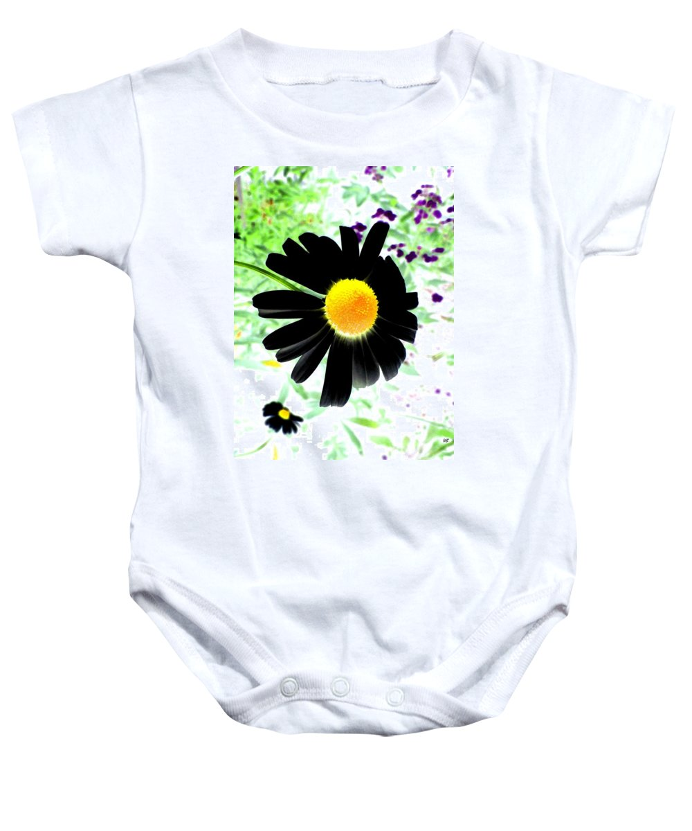 Photo Design Baby Onesie featuring the photograph Black Daisy by Will Borden