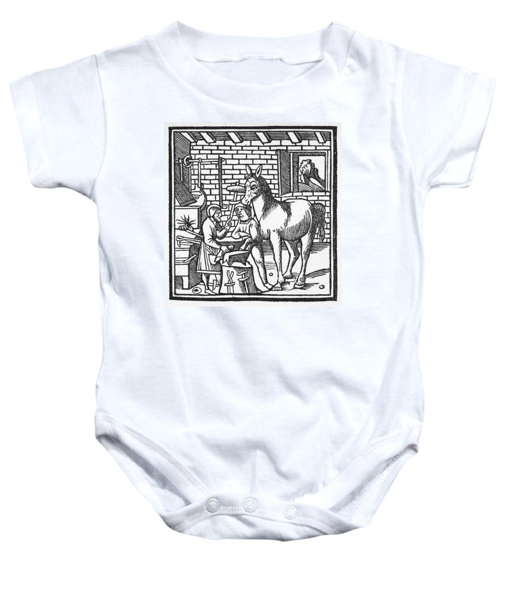 13th Century Baby Onesie featuring the photograph Blacksmith, C1250 by Granger