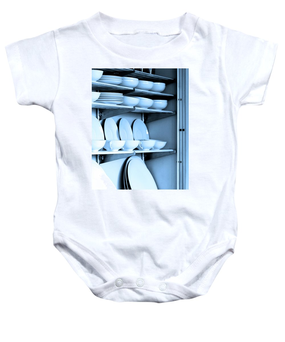 Frey House Baby Onesie featuring the photograph Blue Monday by William Dey