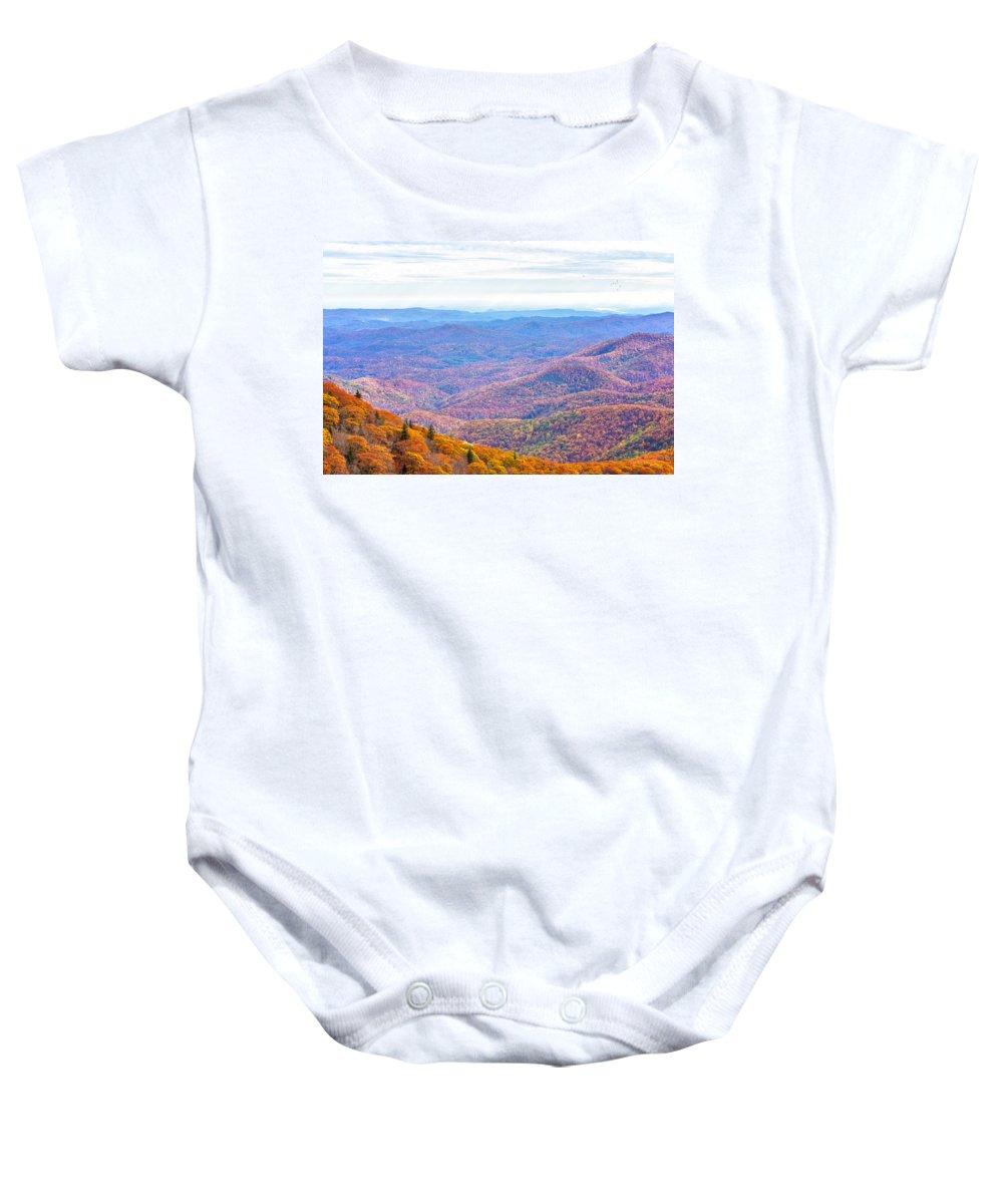 Blue Ridge Mountains Baby Onesie featuring the photograph Blue Ridge Mountains 3 by Gestalt Imagery