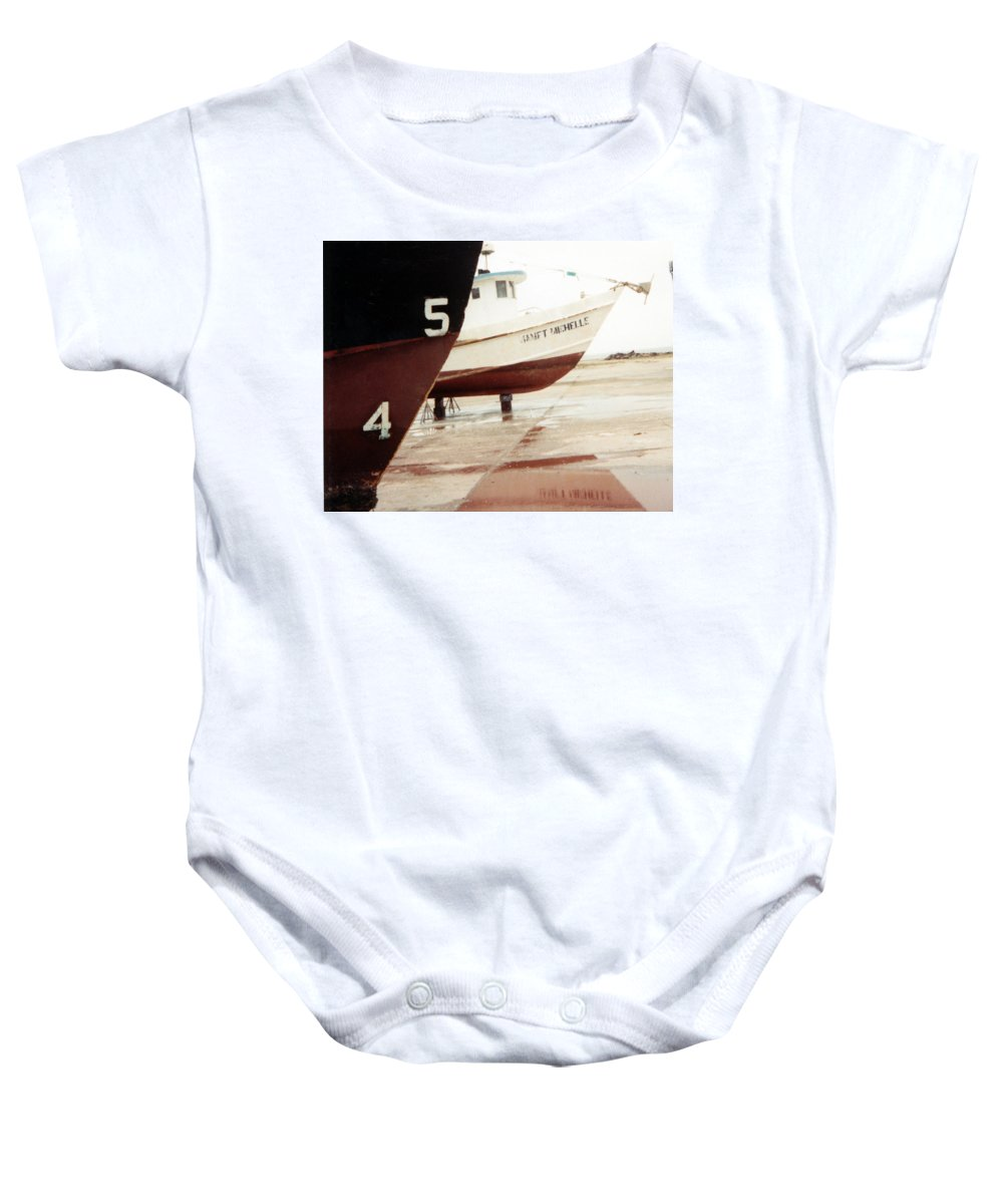 Boat Reflection Baby Onesie featuring the photograph Boat Reflection 2 by Cindy New