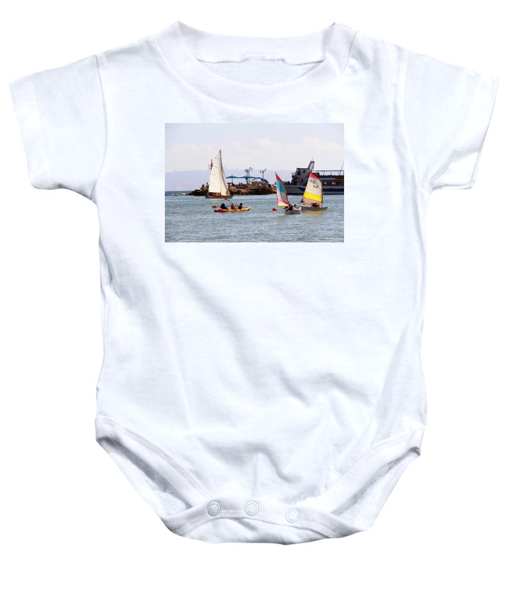 Boats Baby Onesie featuring the photograph Boats Race by Munir Alawi