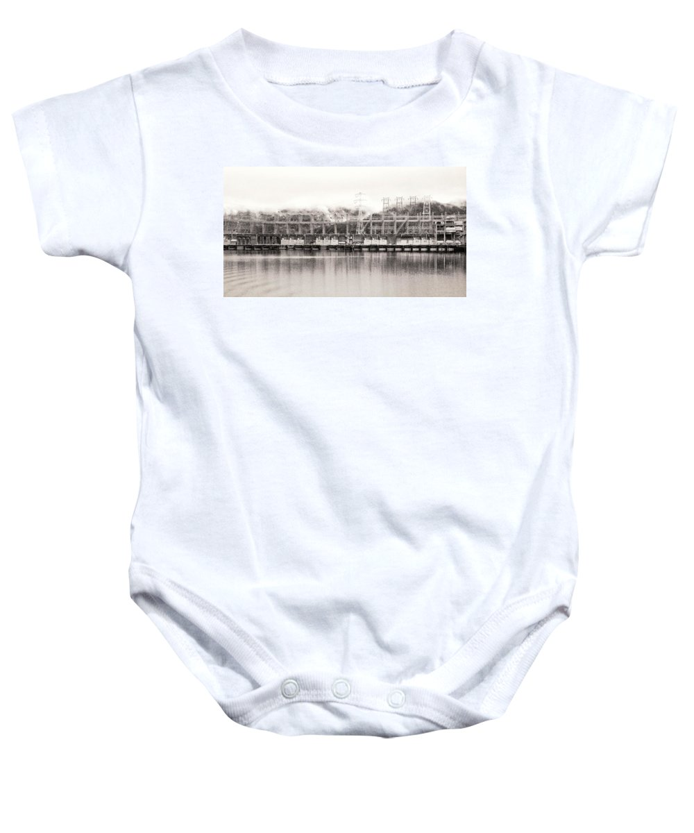 Morning Baby Onesie featuring the photograph Bonneville Dam by David Coleman