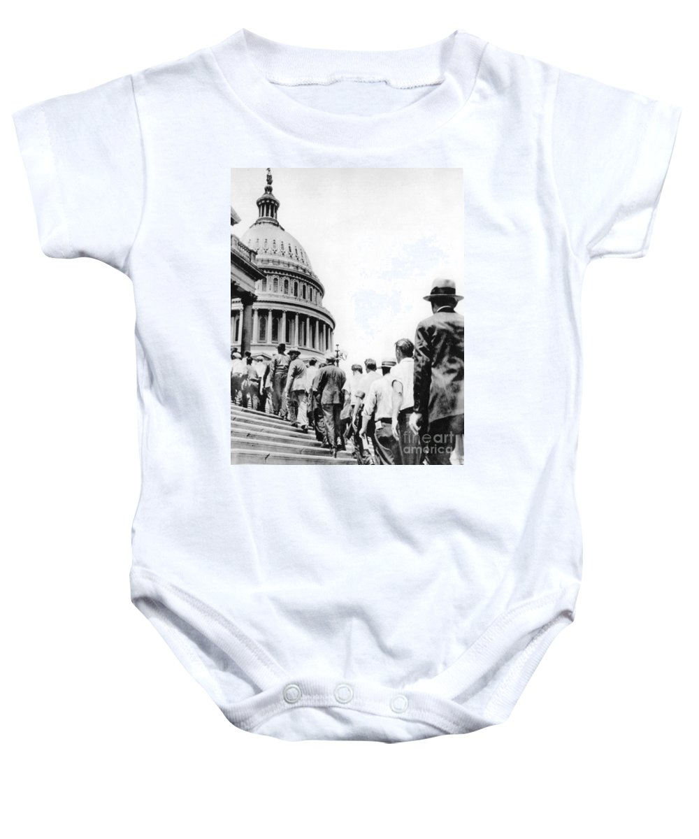 1932 Baby Onesie featuring the photograph Bonus Army Marchers, 1932 by Granger