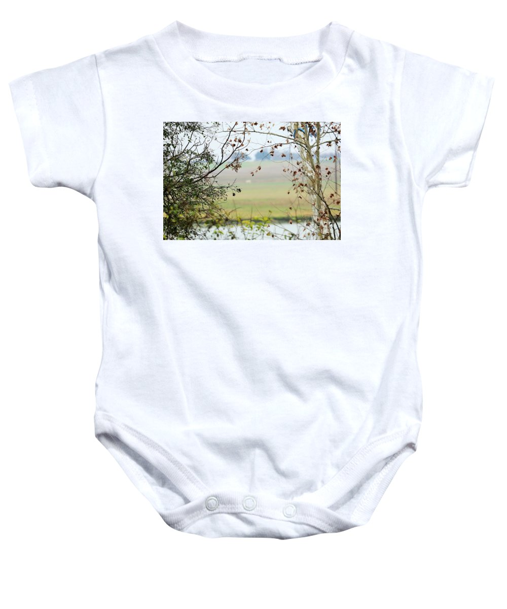 Baby Onesie featuring the photograph Boo 002 by Jeff Downs