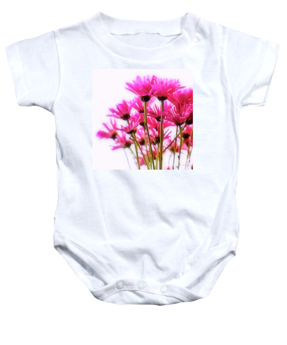 Chrysanthemums Baby Onesie featuring the photograph Bouquet Of Chrysanthemums by Scott Pellegrin