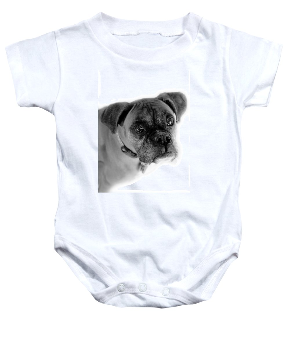 Boxer Baby Onesie featuring the photograph Boxer Dog by Marilyn Hunt