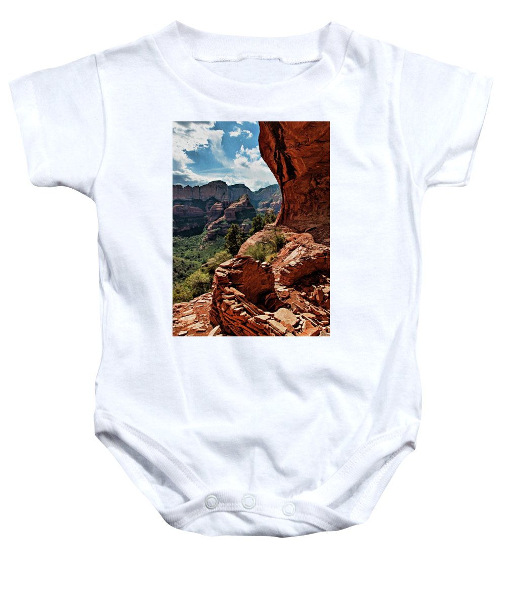 Sedona Baby Onesie featuring the photograph Boynton Canyon 08-160 by Scott McAllister