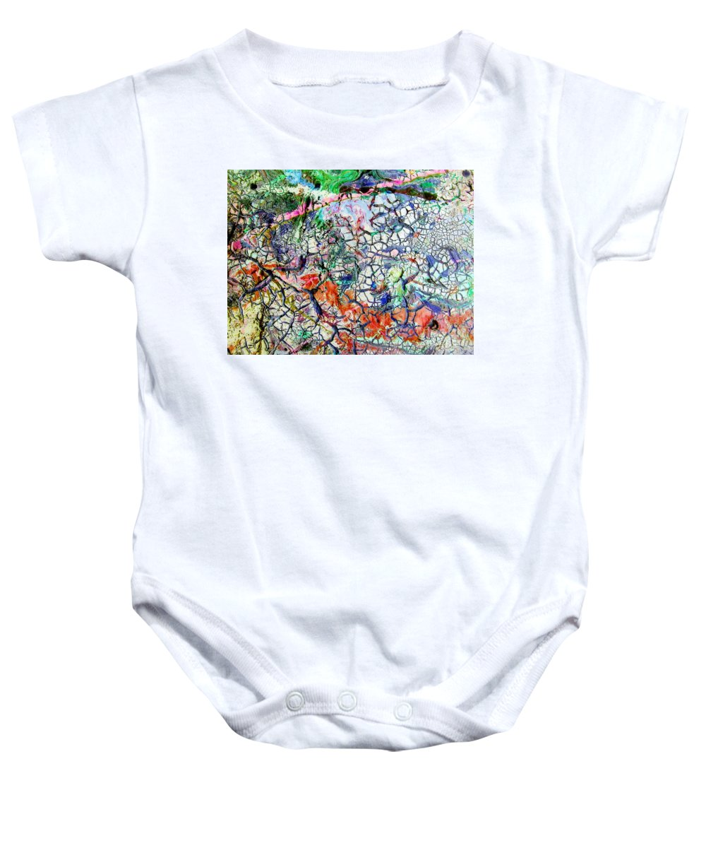 Branches Baby Onesie featuring the painting Branches Of Life by Dawn Hough Sebaugh