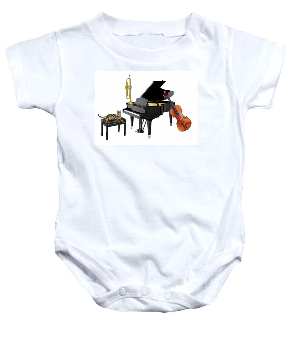 Music Baby Onesie featuring the photograph Break by Manfred Lutzius