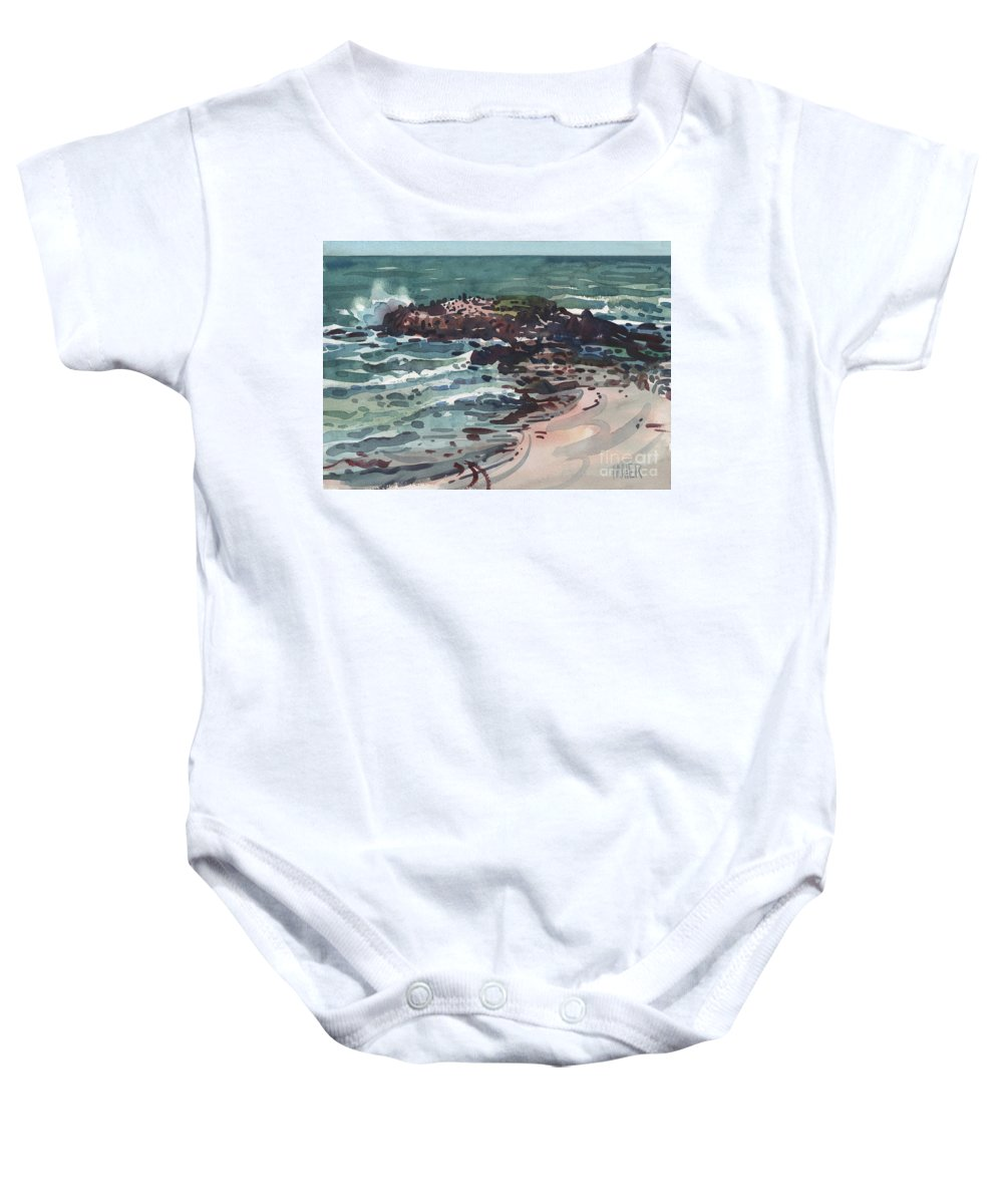 Pacific Baby Onesie featuring the painting Breakers by Donald Maier