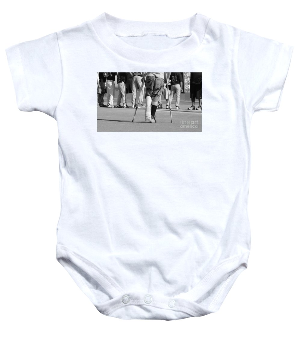 Broken Baby Onesie featuring the photograph Broken by Leah McPhail