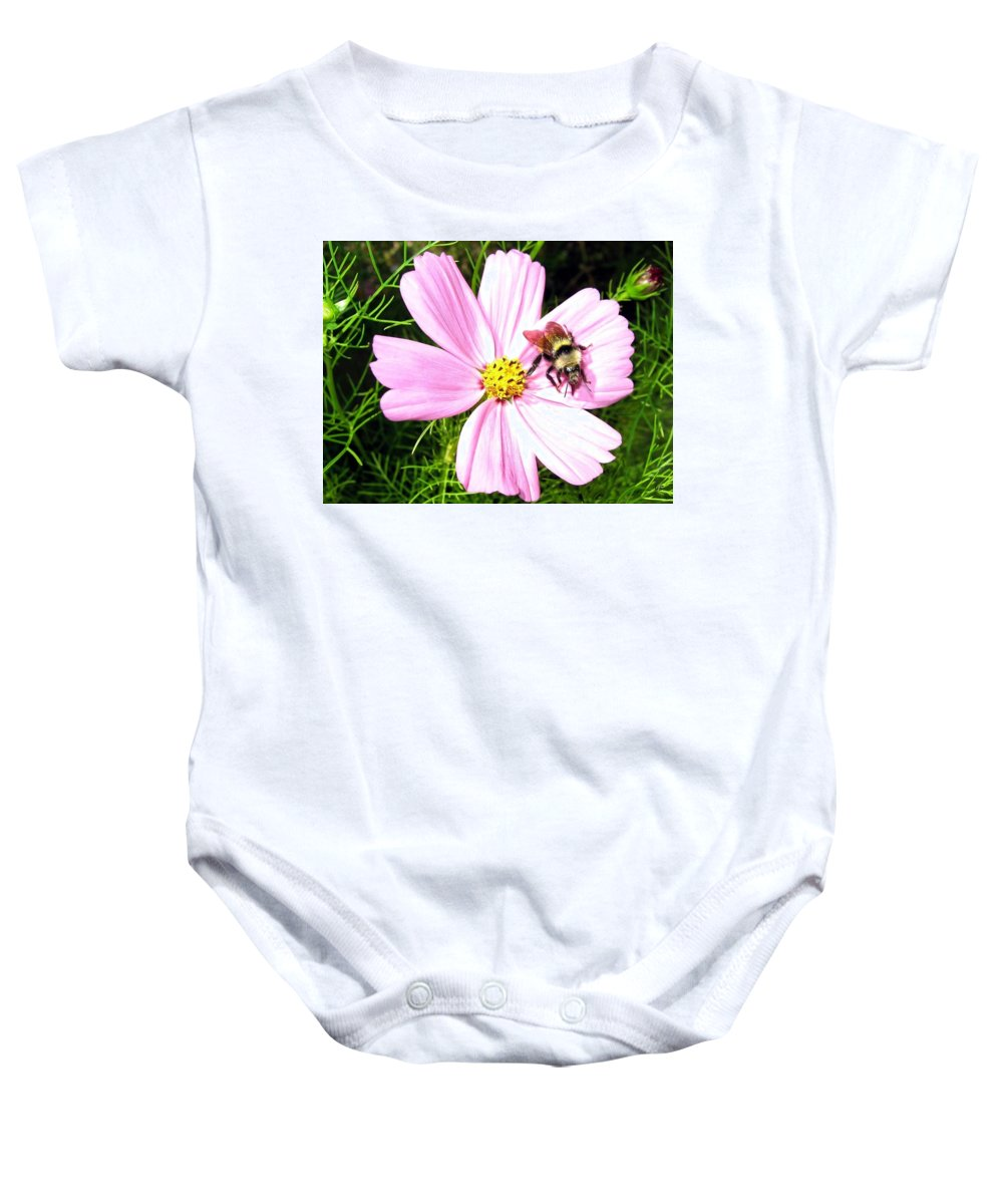 Bee Baby Onesie featuring the photograph Busy Bee by Will Borden