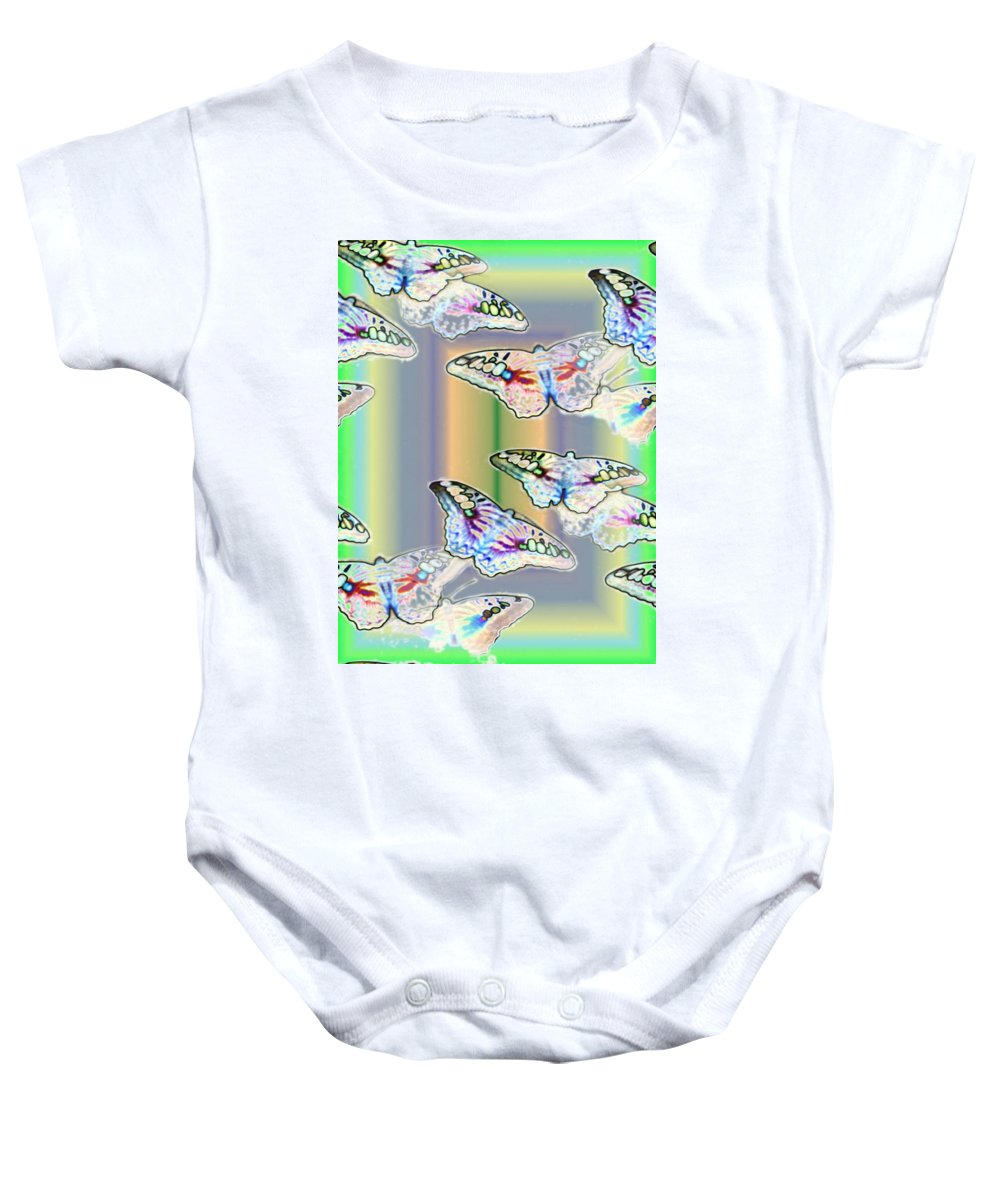 Butterflies Baby Onesie featuring the photograph Butterflies In The Vortex by Tim Allen