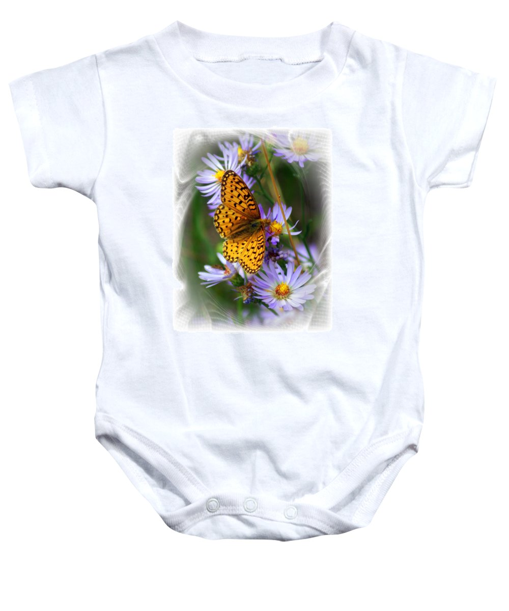 Butterfly Baby Onesie featuring the photograph Butterfly Bliss by Marty Koch