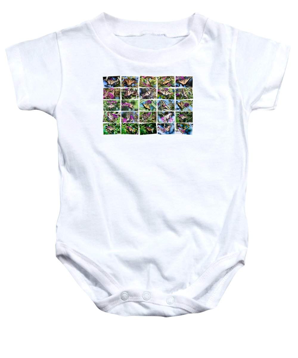 Butterflies Baby Onesie featuring the photograph Butterfly Plethora I by Gary Adkins