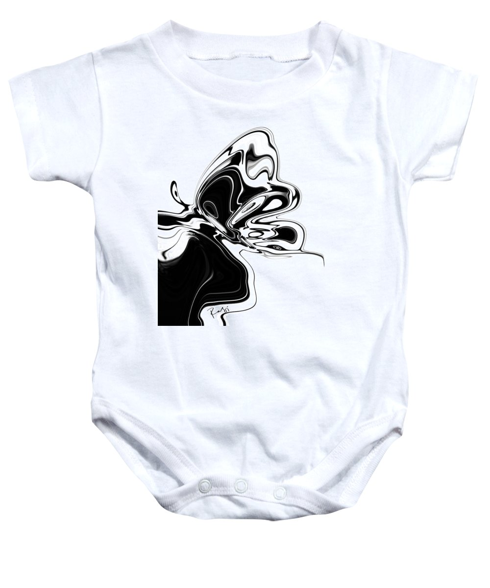 Abstract Baby Onesie featuring the digital art Butterfly by Rabi Khan