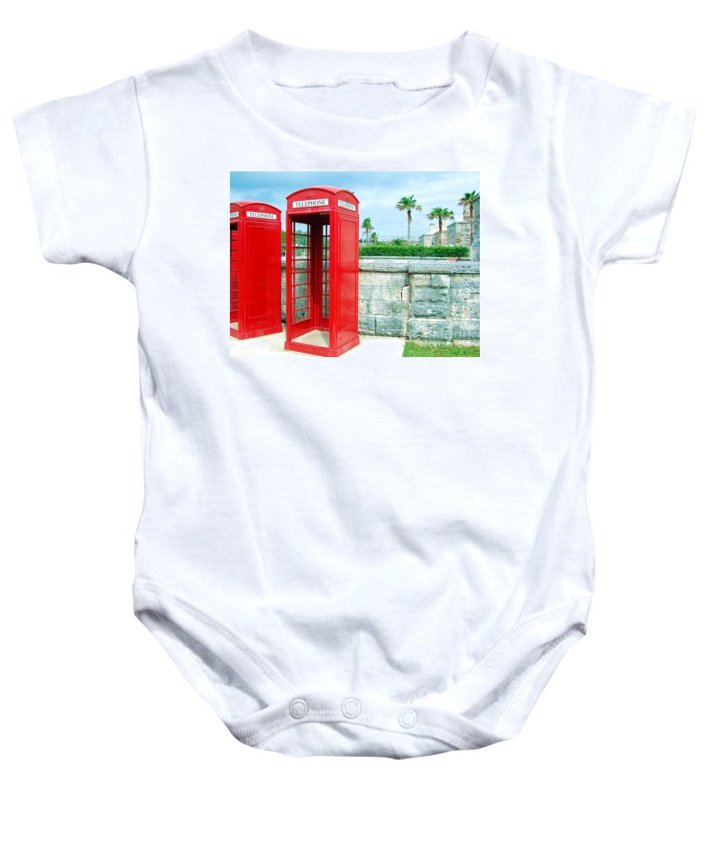 Phone Baby Onesie featuring the photograph Call Me by Debbi Granruth