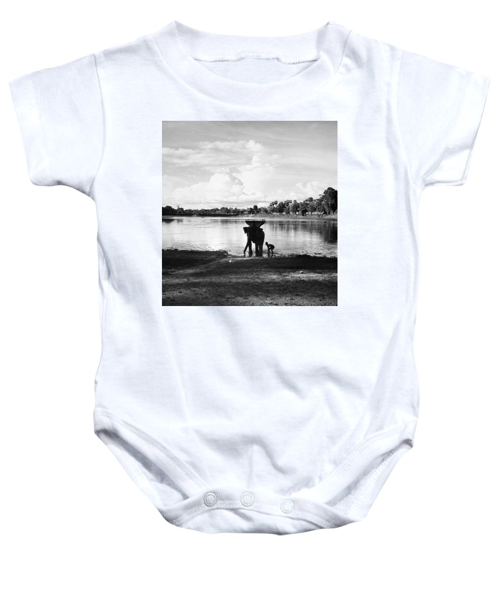 1960 Baby Onesie featuring the photograph Cambodia: Angkor, 1960 by Granger