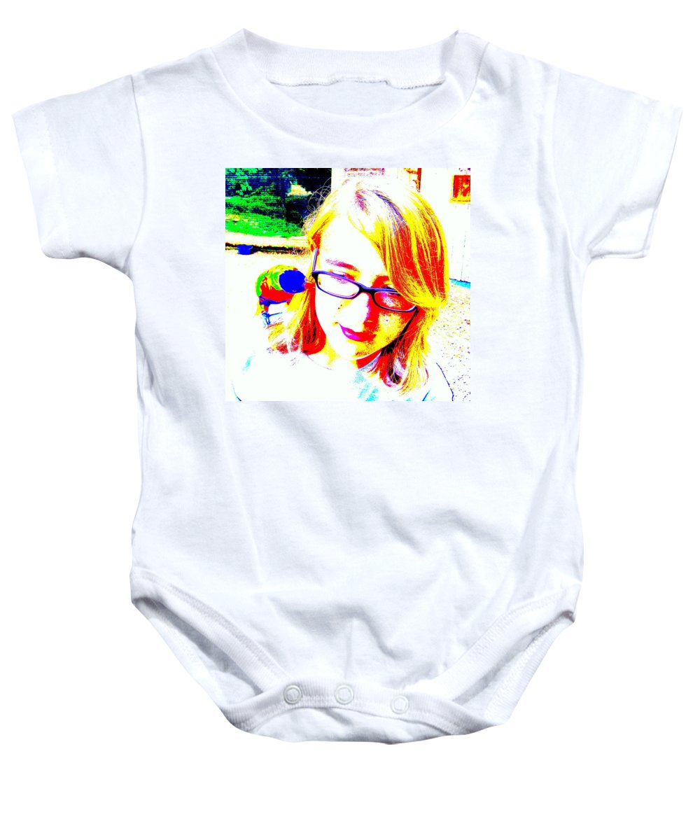 Bird Baby Onesie featuring the photograph Can You Hear Me Now by Ed Smith