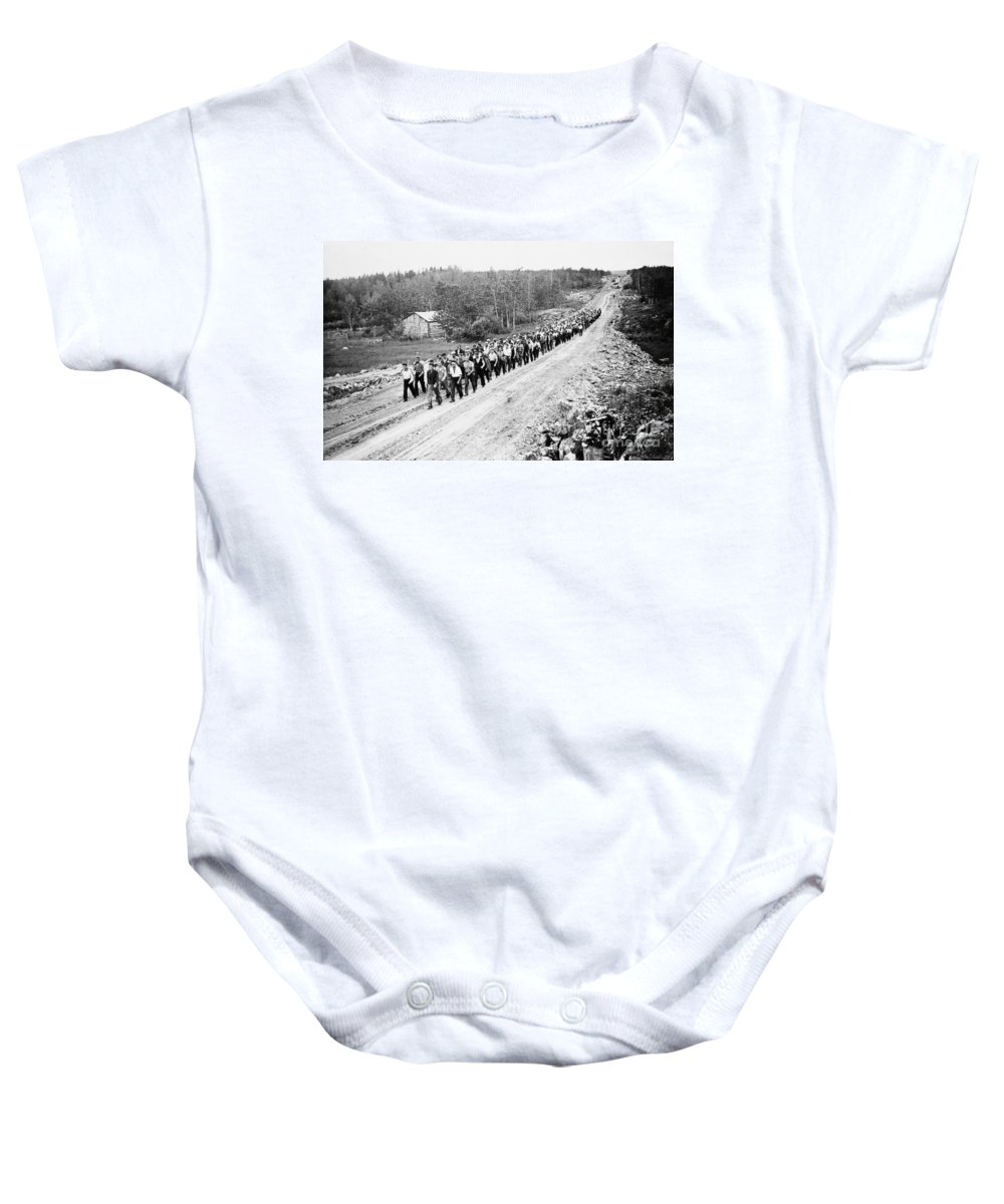 1935 Baby Onesie featuring the photograph Canada: Unemployed, 1935 by Granger