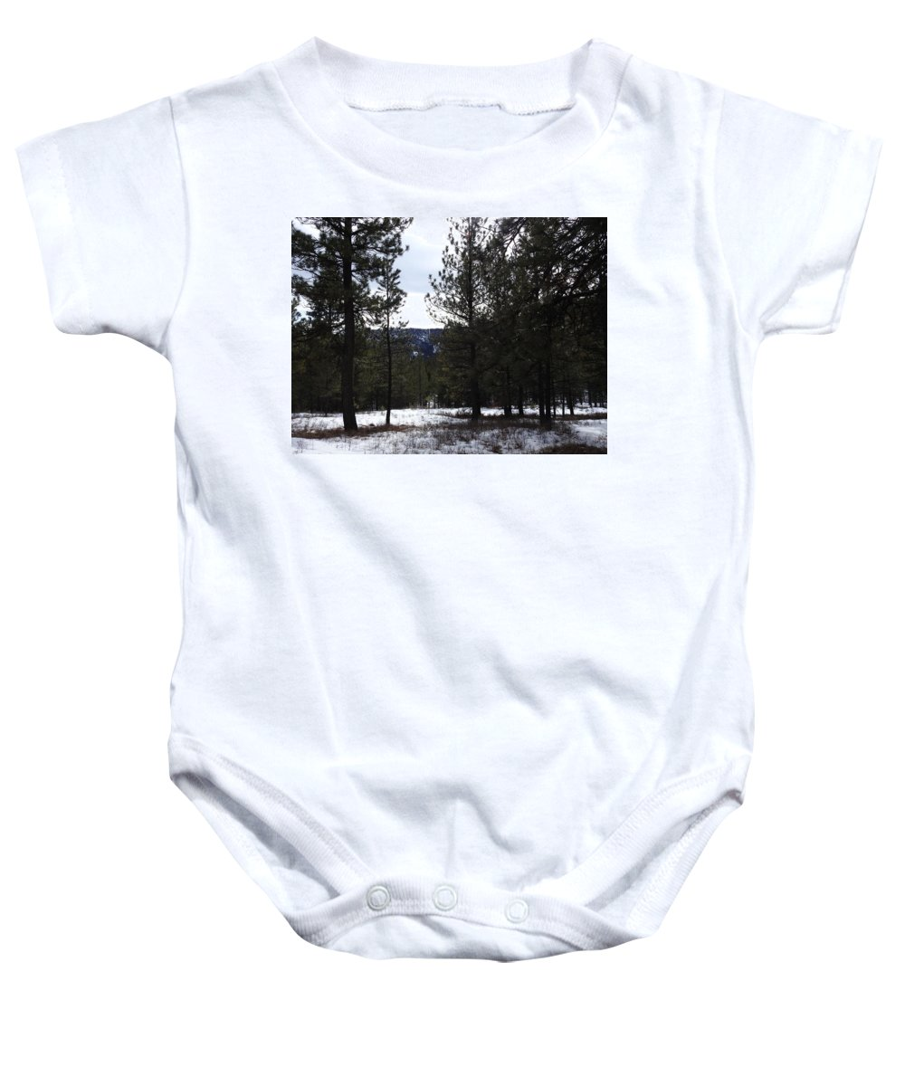 Baby Onesie featuring the photograph Canyon Mischief by Dan Hassett