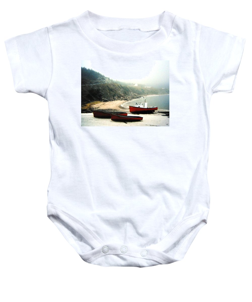 Fishing Boats Baby Onesie featuring the photograph Cape Breton Fishing Boats by Will Borden