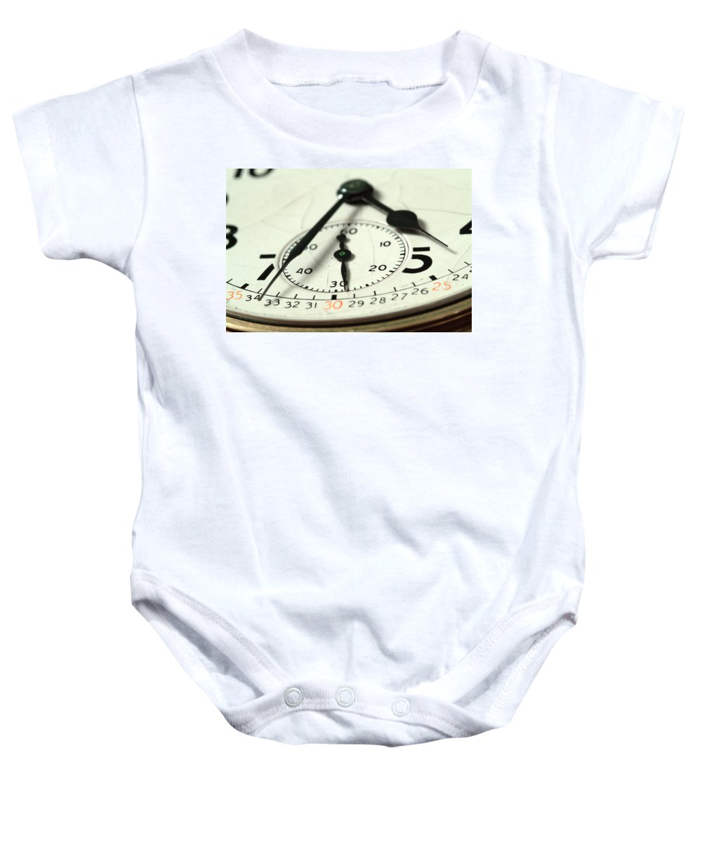 Watch Baby Onesie featuring the photograph Captured Time by Michael McGowan