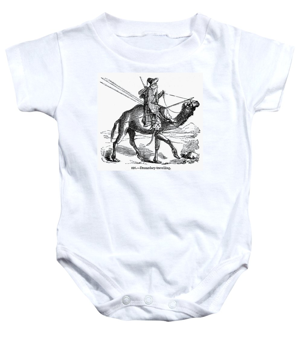 19th Century Baby Onesie featuring the photograph Caravan: Dromedary by Granger