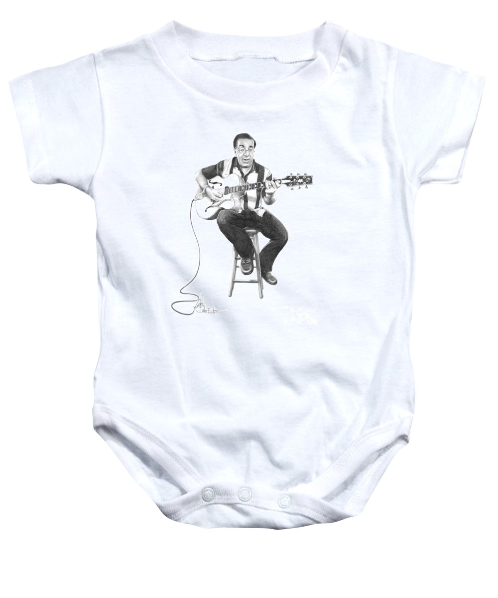 Drawing Baby Onesie featuring the drawing Carmine D'amico by Murphy Elliott