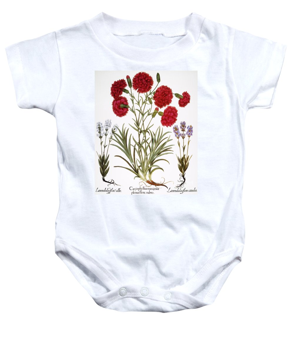 1613 Baby Onesie featuring the photograph Carnation & Lavender, 1613 by Granger