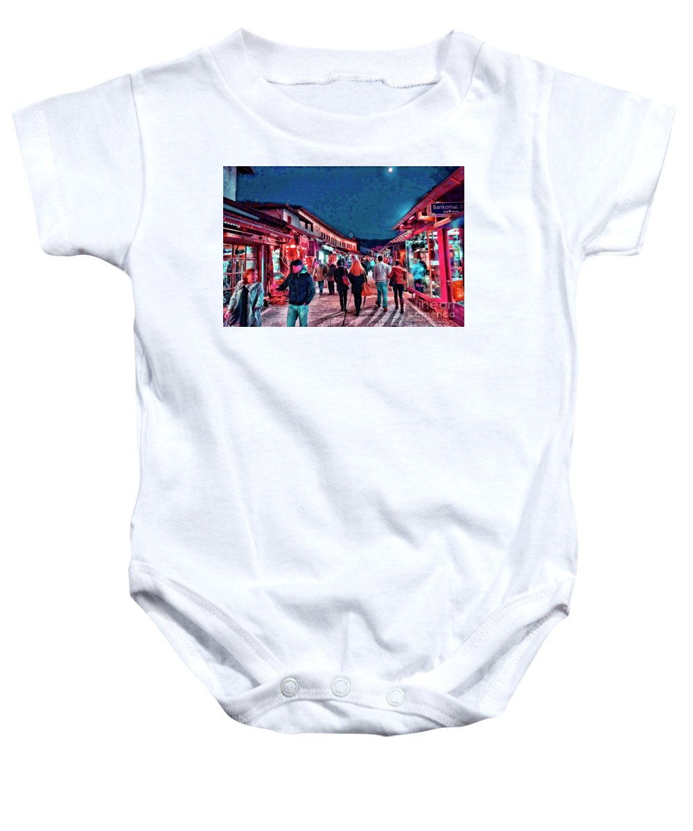 Market Baby Onesie featuring the photograph Carsija by Jasmin Hrnjic