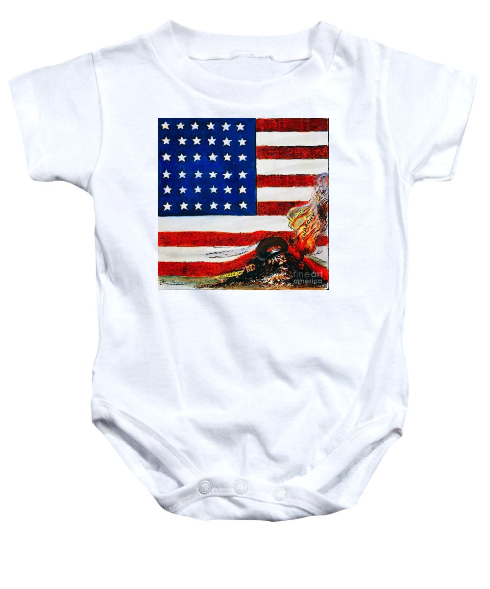 1919 Baby Onesie featuring the photograph Cartoon: Red Scare, 1919 by Granger