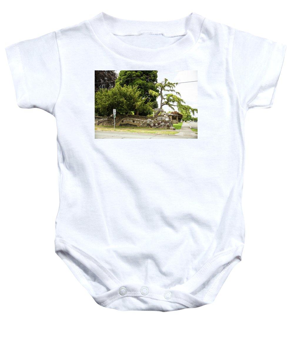 Causland Memorial Park Baby Onesie featuring the photograph Causland Memorial Park In Anacortes by Tom Cochran