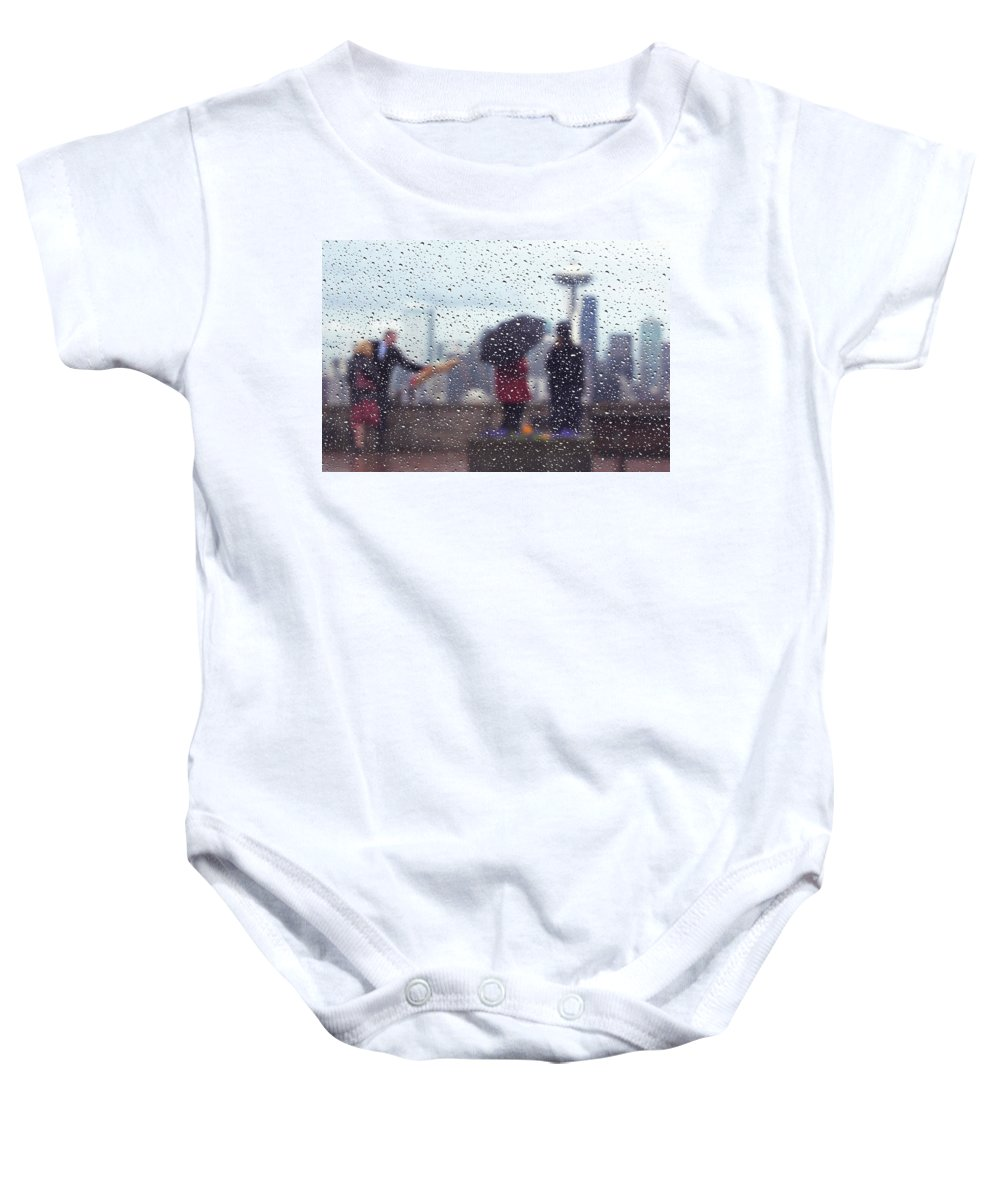 Seattle Baby Onesie featuring the photograph Celebration In Rain A036 by Yoshiki Nakamura