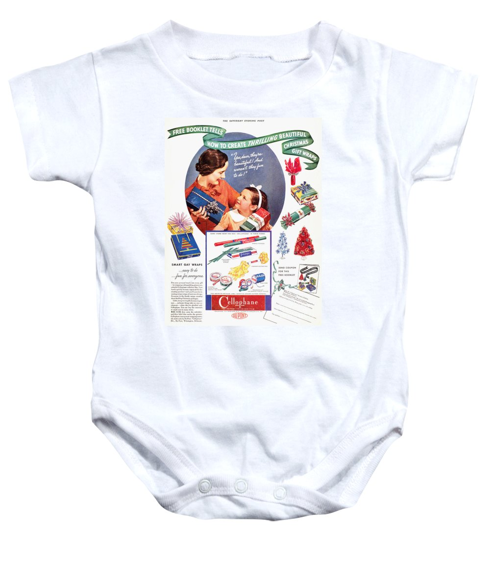 1937 Baby Onesie featuring the photograph Cellophane, 1937 by Granger