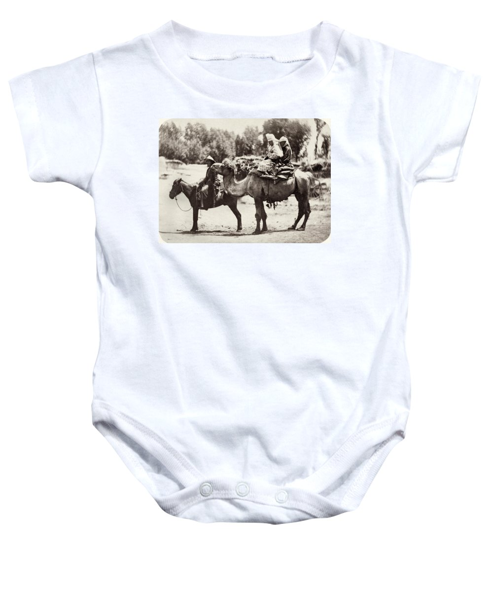 1870 Baby Onesie featuring the photograph Central Asian Travelers by Granger