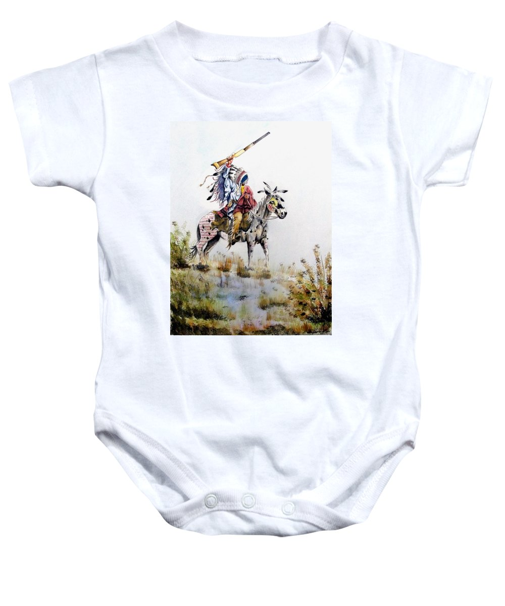 American Baby Onesie featuring the painting Challenge by Jimmy Smith