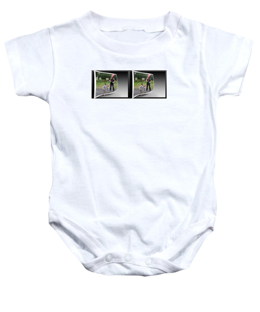 3d Baby Onesie featuring the photograph Chasing Bubbles - Gently Cross Your Eyes And Focus On The Middle Image by Brian Wallace