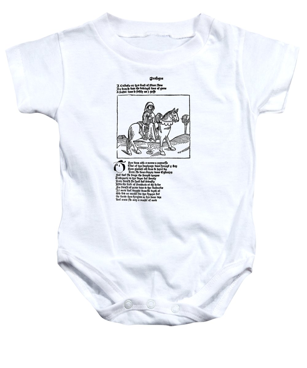 1484 Baby Onesie featuring the photograph Chaucer: The Prioress by Granger