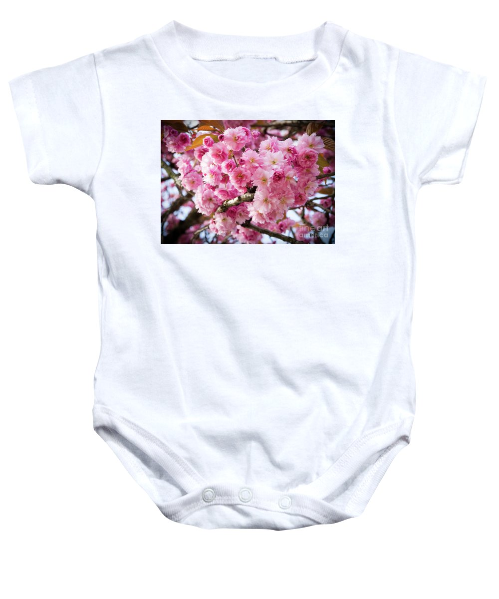 Cherry Baby Onesie featuring the photograph Cherry Blossom by Josephine Cleopahrt